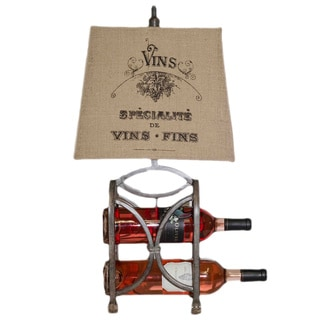 Bombay Wine Rack Distressed Table Lamp