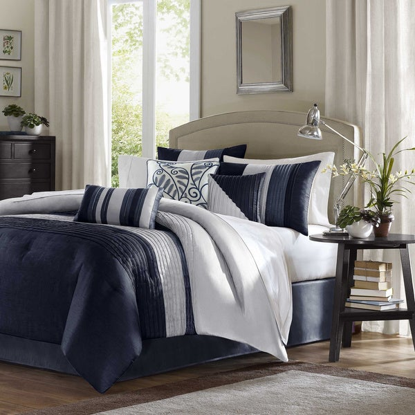 Madison Park Amador Navy Comforter Set