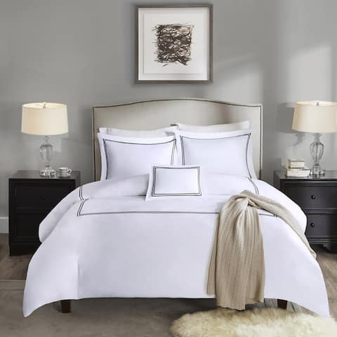 Madison Park Signature 1000 Thread Count Embroidered Cotton Sateen 5 Piece Comforter Set