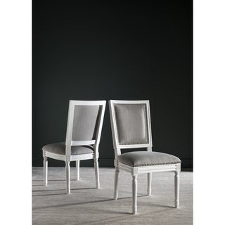 Safavieh Old World Dining Buchanan Light Grey Rect Side Chairs (Set of 2)