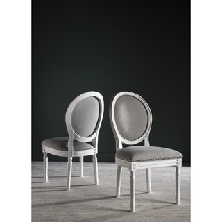 Safavieh Old World Dining Holloway Light Grey Oval Dining Chairs (Set of 2)