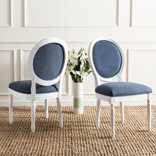 Safavieh Old World Dining Holloway Navy Oval Dining Chairs (Set of 2) (As Is Item)