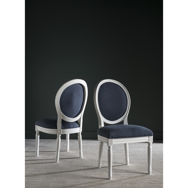 Safavieh Old World Dining Holloway Navy Oval Dining Chairs