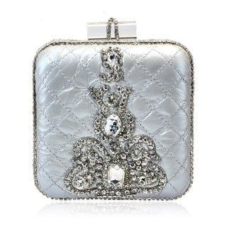 Jasbir Gill Silver Leather Clutch