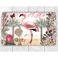 Tropical Flamingo Accent Rug