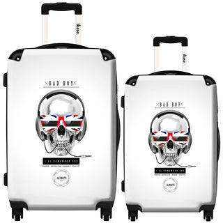 iKase London Pop Sku  2-piece Hardside Spinner Luggage Set