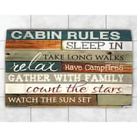 Rules Of The Cabin Accent Rug 4 X 6 Free Shipping