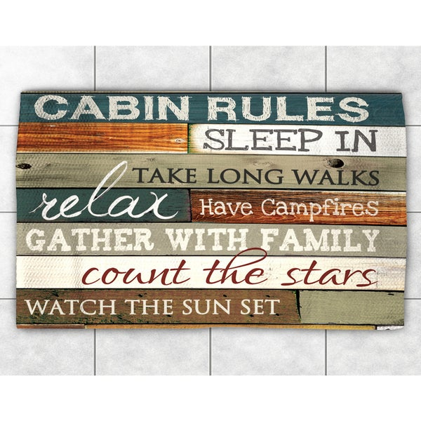 Rules of the Cabin Accent Rug (2' x 3')