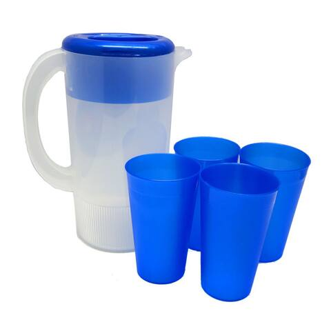 Plastic Party Pitcher and 4pc Tumbler Set