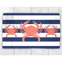 Crab Trio Accent Rug
