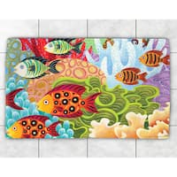 Colorful Fish Accent Rug - multi