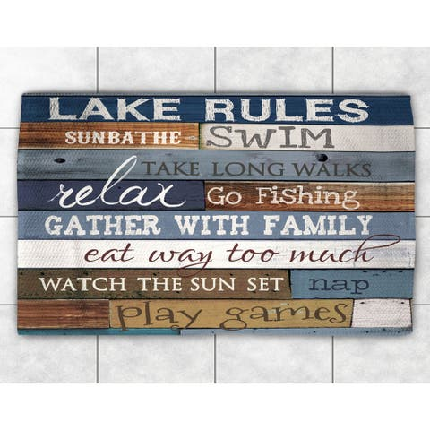 Rules of the Lake Accent Rug (2' x 3') - 2' x 3'