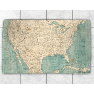 Map of North America Accent Rug (2' x 3')