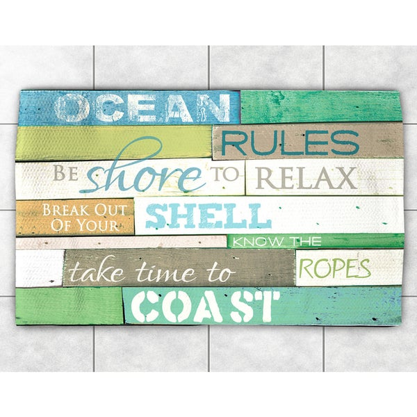 Rules of the Ocean Accent Rug (2' x 3')