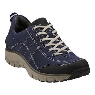 Women's Clarks Wave.Trek Walking Shoe Navy Leather