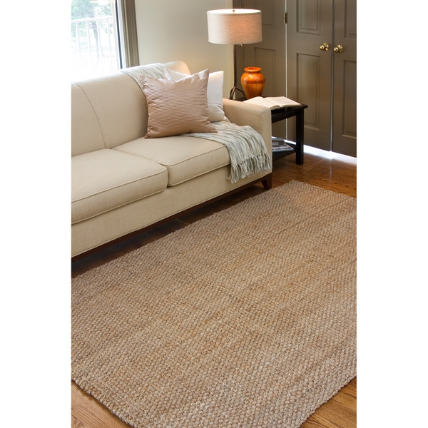 hand woven natural fiber jute rug 5 39 x 8 39 free shipping today 1011791. Black Bedroom Furniture Sets. Home Design Ideas