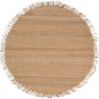 Hand-woven Natural Fiber Jute Area Rug - 6' Round