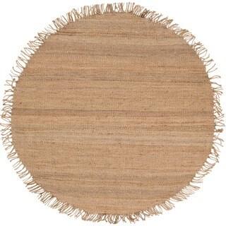 Hand-woven Natural Fiber Jute Area Rug (6' Round)