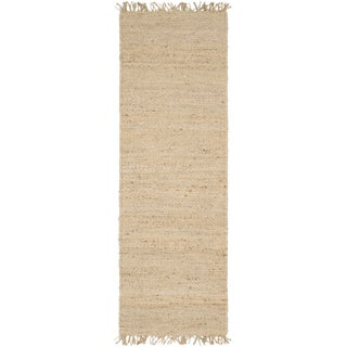 Hand-woven Natural Fiber Natural Fiber Jute Bleached Area Rug (10' x 14') (More options available)