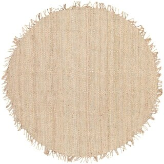 Hand-woven Jute Bleached Area Rug - 8'