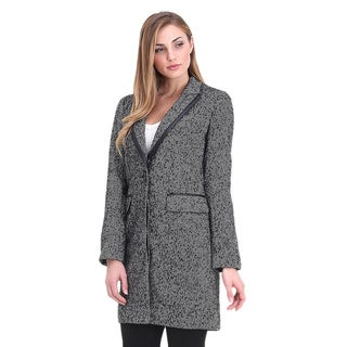 Spicy Mix Women's Greta Wool Blend Herringbone Single-Breasted Coat