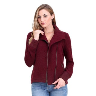 Spicy Mix Women's Averie Asymmetrical Zippered Knit Sweater Jacket