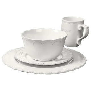 Le Provence-4 Piece StonewareRound Dinnerware Service for One