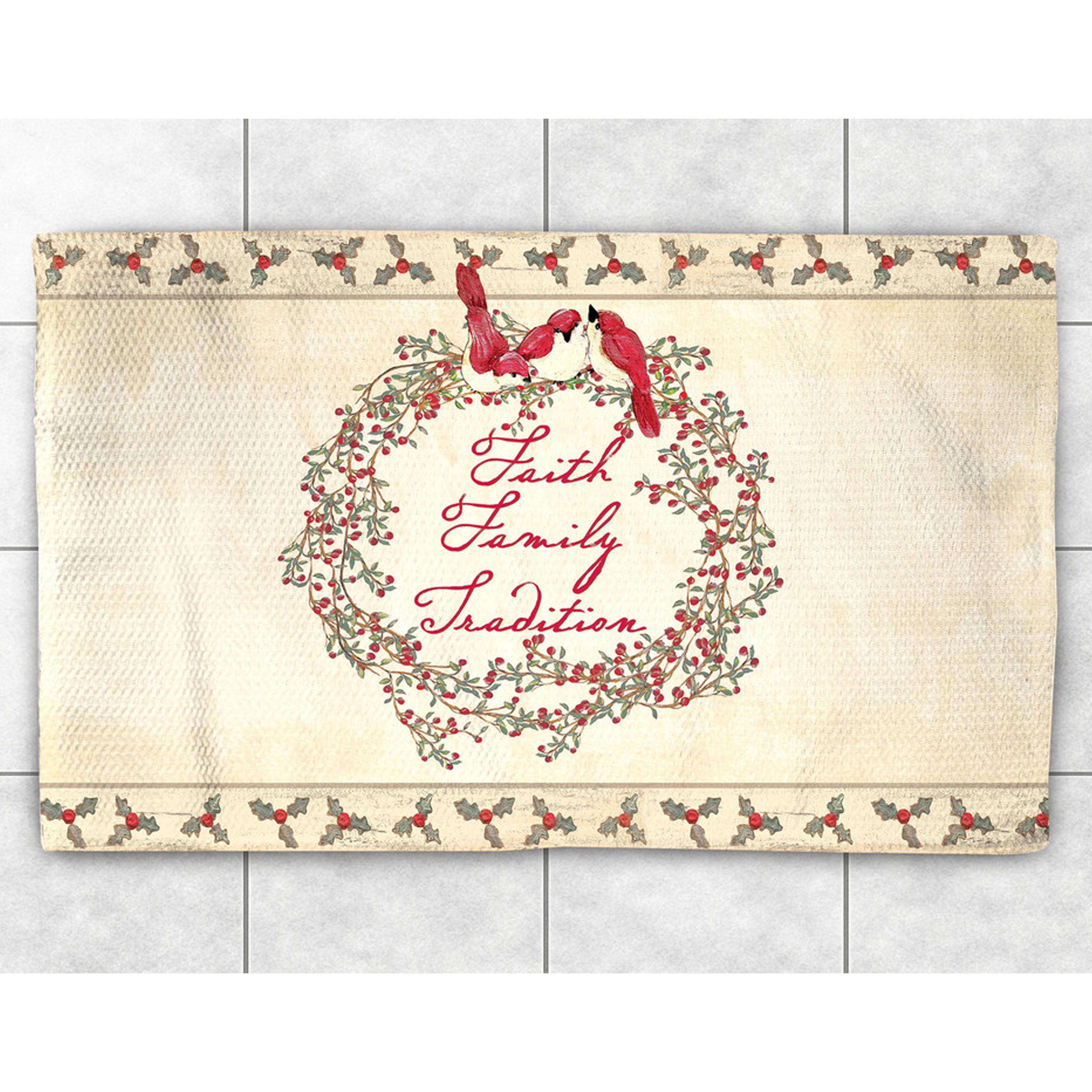 Laural Home Holiday Wreath Accent Rug (2' x 3') (size), B...