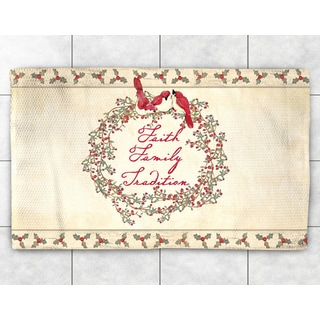 Holiday Wreath Accent Rug (2' x 3')