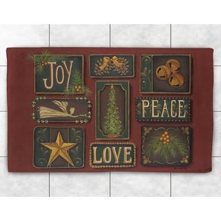 Peace, Love & Joy Holiday Accent Rug (2' x 3')