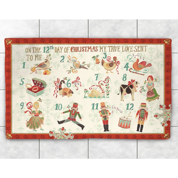12 Days Of Christmas Accent Rug 2 X27