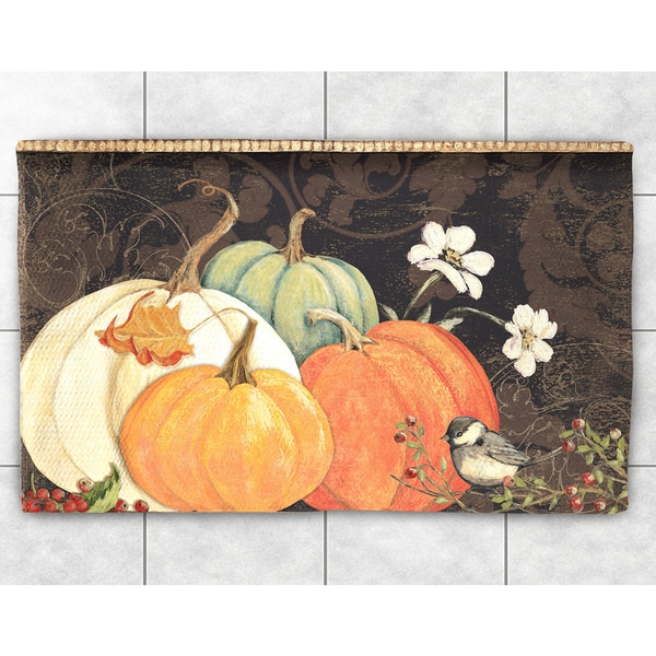 October Pumpkins Accent Rug