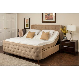 Sleep Zone Malibu 12-inch Split King Memory Foam Adjustable Mattress Set