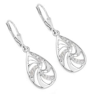 Olivia Leone 0.24 Carat Genuine White Diamond .925 Sterling Silver Earrings