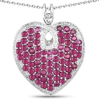 Olivia Leone 8.08 Carat Genuine Ruby .925 Sterling Silver Pendant