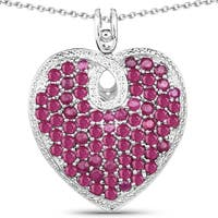 Olivia Leone 8.08 Carat Genuine Ruby .925 Sterling Silver Pendant