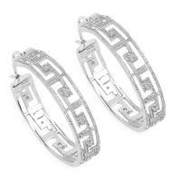 Olivia Leone 0.30 Carat Genuine White Diamond .925 Sterling Silver Earrings