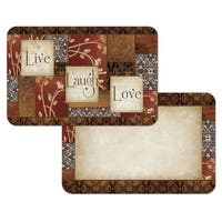 Counterart Reversible Plastic Wipe Clean Placemats - Spice of Life (Set of 4)