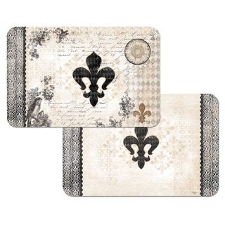 Counterart Reversible Plastic Wipe Clean Placemats - Cherish Fleur de Lis (Set of 4)