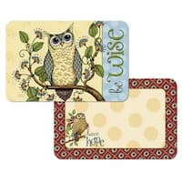 Counterart Reversible Plastic Wipe Clean Placemats - Wise Owl (Set of 4)