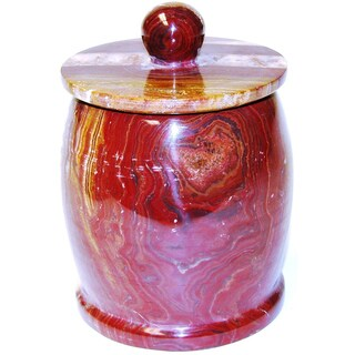 Nature Home Decor Pacific Collection Multi Brown Onyx Cotton Jar