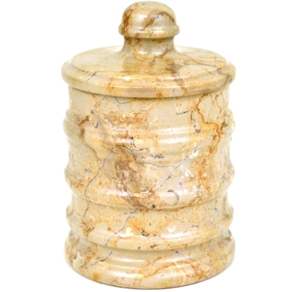 Nature Home Decor Bengal Collection Sahara Beige Marble Canister