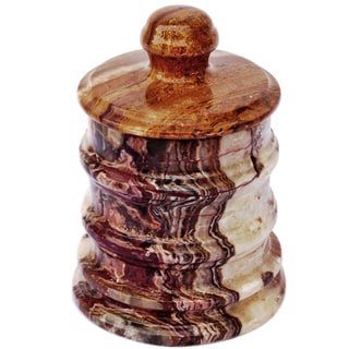 Nature Home Décor Multi Onyx Canister of Bengal Collection