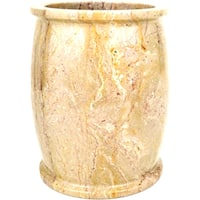 Nature Home Decor Pacific Collection Sahara Beige Marble Waste Basket