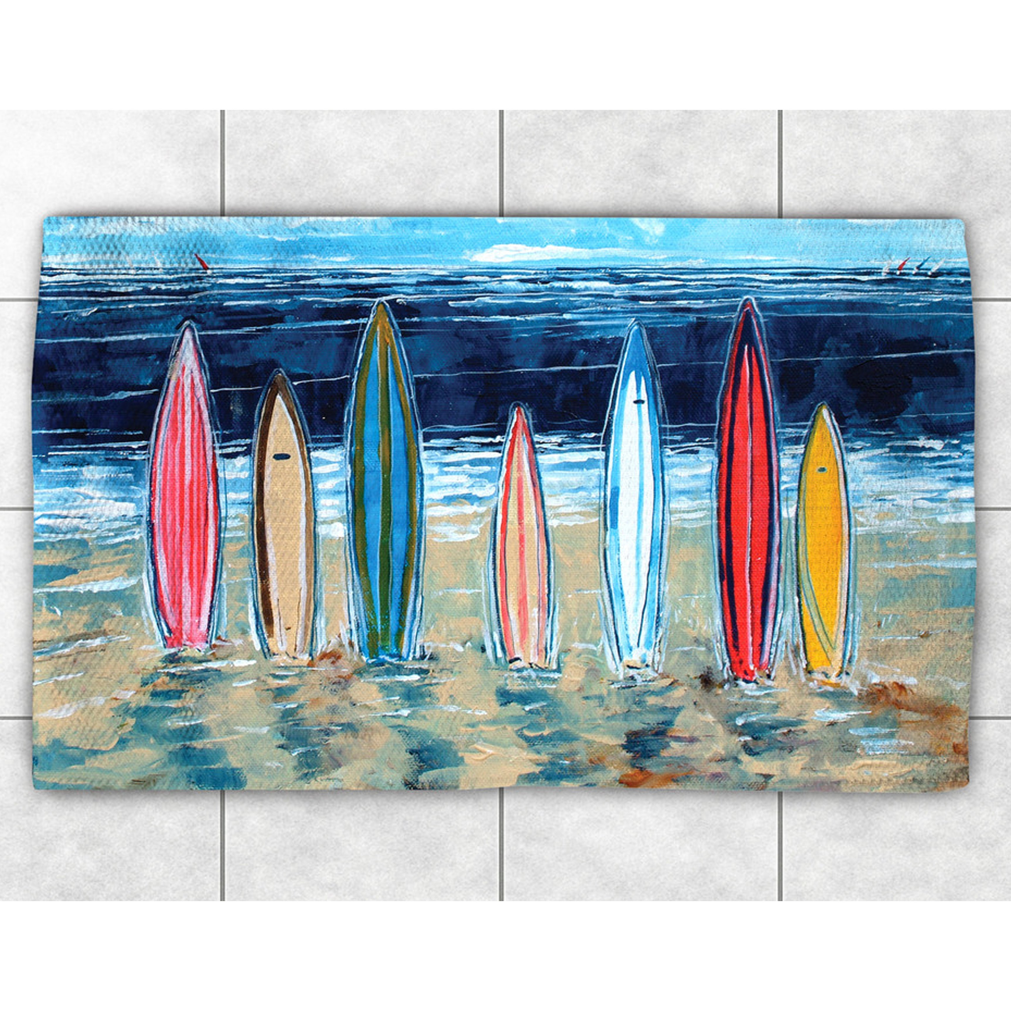 Laural Home Summer Surfboards Accent Rug (2' x 3') (Size)...