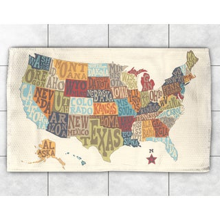 Typographic States Collage Accent Rug (2' x 3')