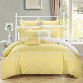 Clay Alder Home Fruita Yellow Embroidered 11-piece Bed in a Bag Comforter Set