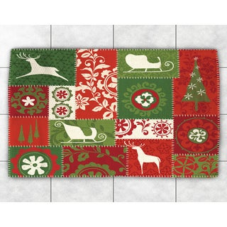 Merry Holiday Patchwork Accent Rug (2' x 3')