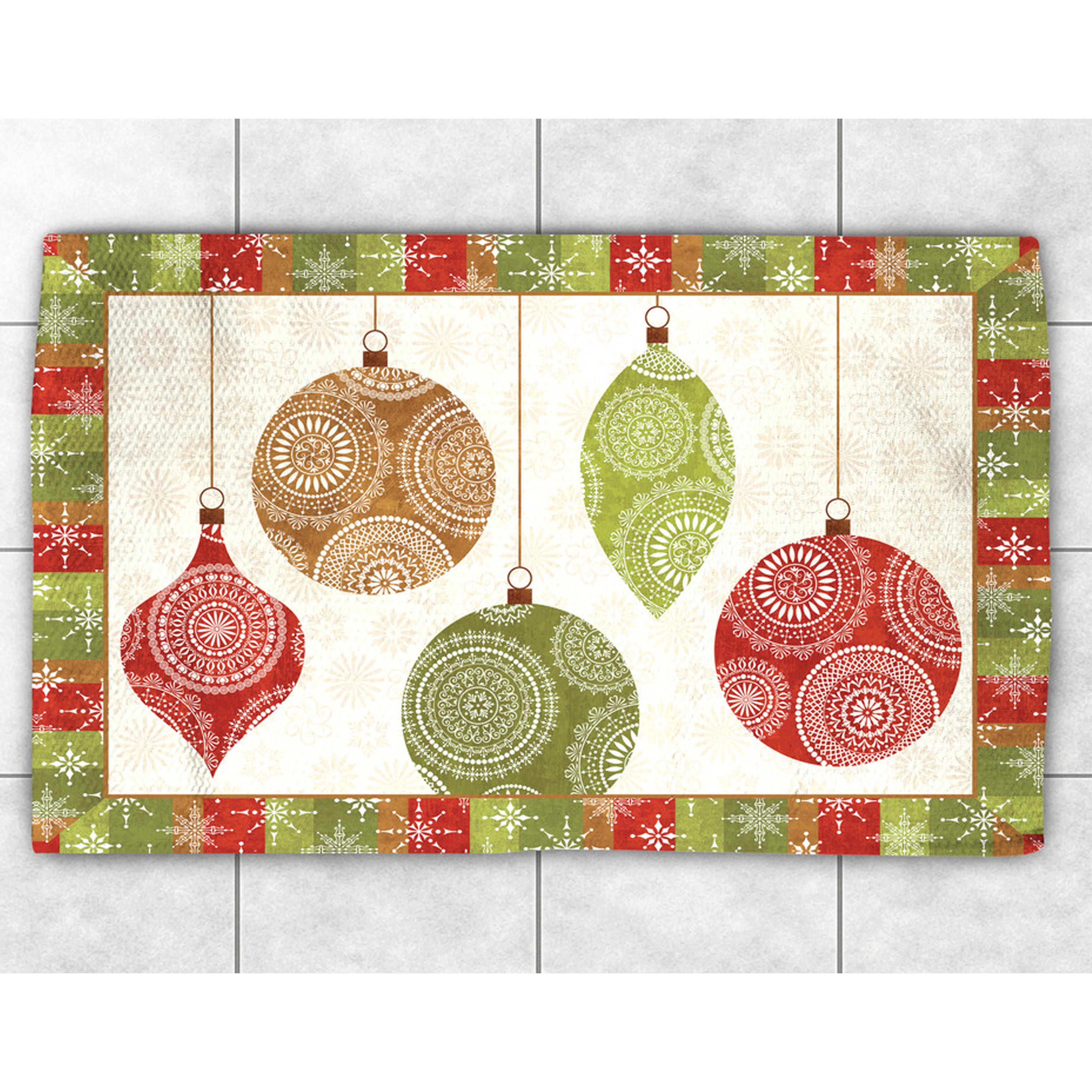 Laural Home Ornaments Accent Rug (2' x 3') (size), Red, S...