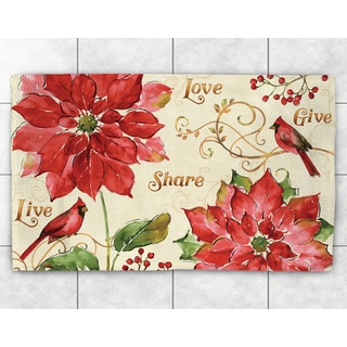 Red Poinsettia Accent Rug (2' x 3')